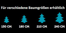 LUMINEO LED-Baum-Lichterkette 1-2-Glow