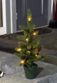 konstsmide led weihnachtsbaum mit topf 45 cm 10 warmwei e. Black Bedroom Furniture Sets. Home Design Ideas