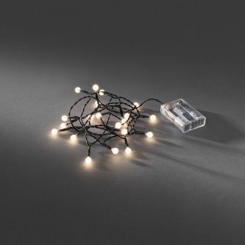 Led lichterkette 20 globe led warmwei batteriebetrieb for Weihnachtsbeleuchtung batterie