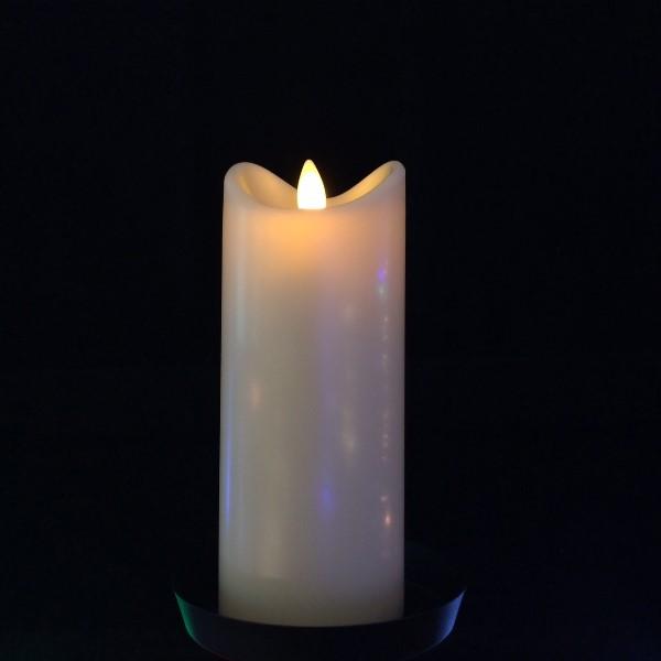 led kerze moving flame 15 cm elfenbein 15 cm warmwei e led batteriebetrieben mit timer. Black Bedroom Furniture Sets. Home Design Ideas