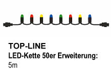 SIRIUS Top-Line-System LED-Erweiterungs-Lichterkette Multi 50 LED bunt