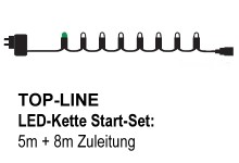 SIRIUS Top-Line-System LED-Lichterkette Startset 50 LED warmweiß