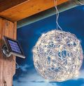 ESOTEC Solar-Kugelleuchte Wireball 25 cm Aluminium 50 LED Warmweiss
