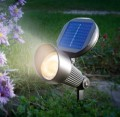ESOTEC LED-Solarspot Aluminium warmweiss