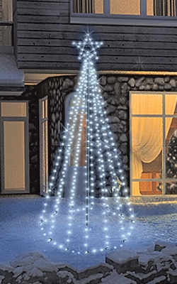 FDL LED-Tannenbaum Tree Kit 270 cm 300 weiße LED Twinkle-Effekt